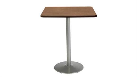 """Cafeteria Tables KFI Seating 36""""H x 30""""W x 30""""D Square Breakroom Table, Round Base"""