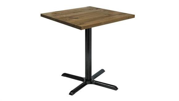 "Cafeteria Tables KFI Seating 30"" Square Vintage Wood Counter Table"
