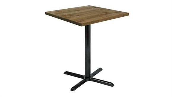 "Cafeteria Tables KFI Seating 30"" Square Vintage Wood Bistro Table"