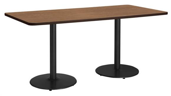 """Conference Tables KFI Seating 36"""" x 72"""" Conference Table, Counter Height, Round Base"""