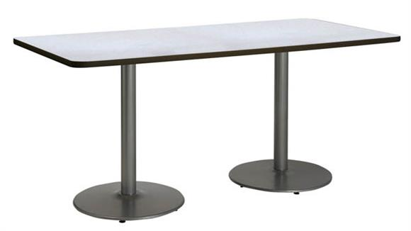 "Conference Tables KFI Seating 36"" x 72"" Pedestal Table"