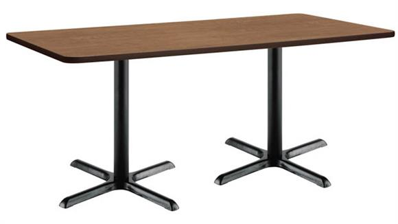 """Conference Tables KFI Seating 36"""" x 72"""" Conference Table, Counter Height, X-Base"""