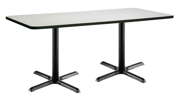 """Cafeteria Tables KFI Seating 36"""" x 72"""" Pedestal Table"""