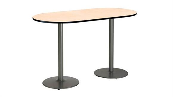 "Conference Tables KFI Seating 36"" x 72"" RaceTrack Pedestal Table"
