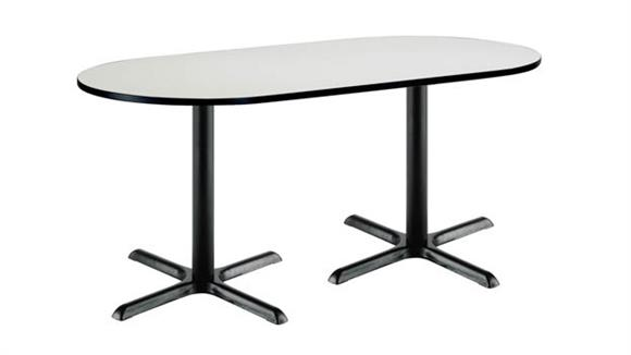 """Conference Tables KFI Seating 36"""" x 72"""" RaceTrack Pedestal Table"""