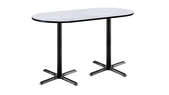 """Conference Tables KFI Seating 42""""H x 36""""W x 72""""D Racetrack Pedestal Table"""