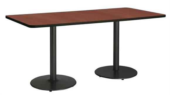 """Conference Tables KFI Seating 36"""" x 96"""" Conference Table, Counter Height, Round Base"""