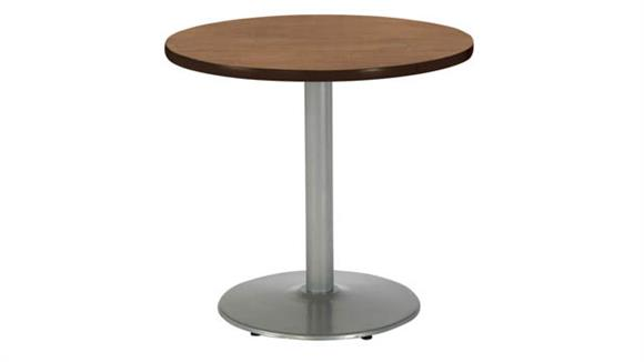 "Cafeteria Tables KFI Seating 36"" Round Breakroom Table, Counter Height, Round Base"