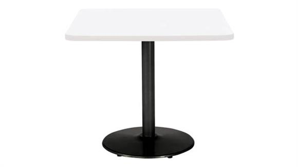 """Cafeteria Tables KFI Seating 36"""" Square Breakroom Table, Counter Height, Round Base"""