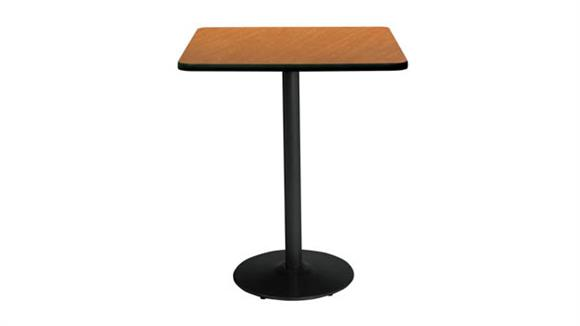 "Cafeteria Tables KFI Seating 36"" Sqaure Table, Bistro Height"