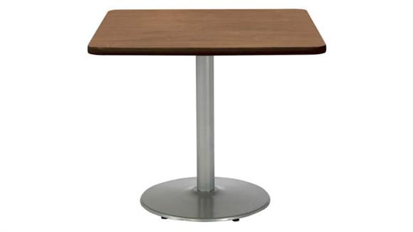 """Cafeteria Tables KFI Seating 36""""H x 36""""W x 36""""D Square Breakroom Table, Round Base"""