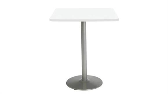 "Cafeteria Tables KFI Seating 36"" Square Breakroom Table, Counter Height, Round Base"