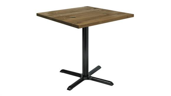 "Cafeteria Tables KFI Seating 36"" Square Vintage Wood Counter Table"