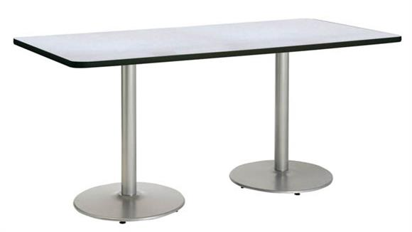 "Conference Tables KFI Seating 42"" x 96"" Conference Table, Counter Height, Round Base"