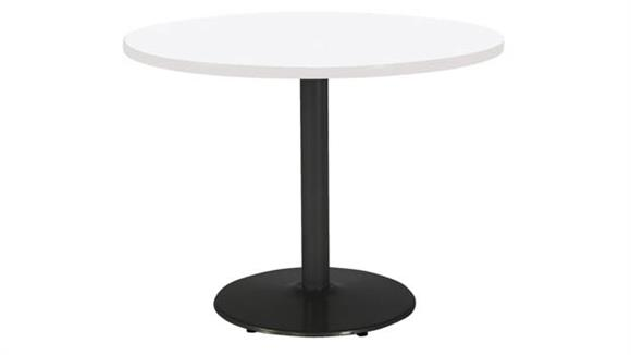 """Cafeteria Tables KFI Seating 42"""" Round Breakroom Table, Counter Height, Round Base"""