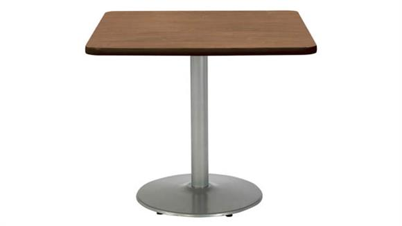 """Cafeteria Tables KFI Seating 36""""H x 42""""W x 42""""D Square Breakroom Table, Round Base"""