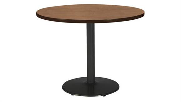 """Cafeteria Tables KFI Seating 36""""H x 48"""" Diameter Round Breakroom Table, Round Base"""