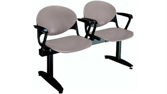 Side & Guest Chairs KFI Seating Beam 2 Seat Bench with Arms