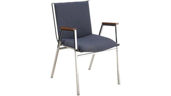 Stacking Chairs KFI Seating Fabric Stack Chair with Arms and Chrome Frame