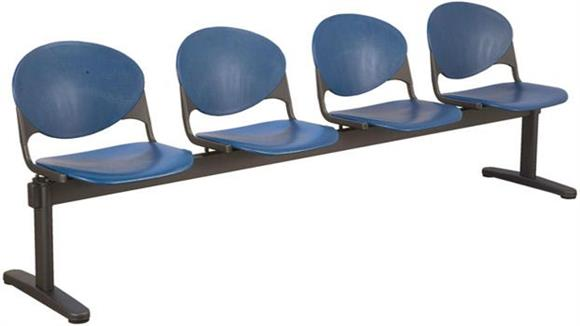 Side & Guest Chairs KFI Seating Beam 4 Seat Bench
