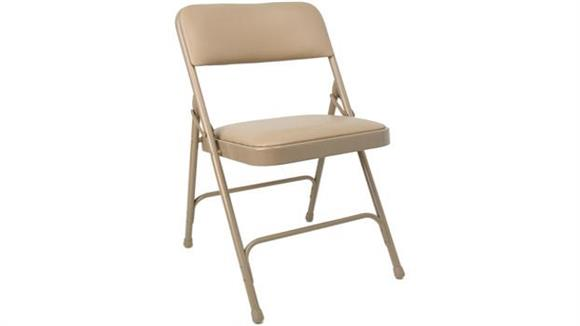 Folding Chairs KFI Seating Steel Folding Chair with Vinyl Seat and Back