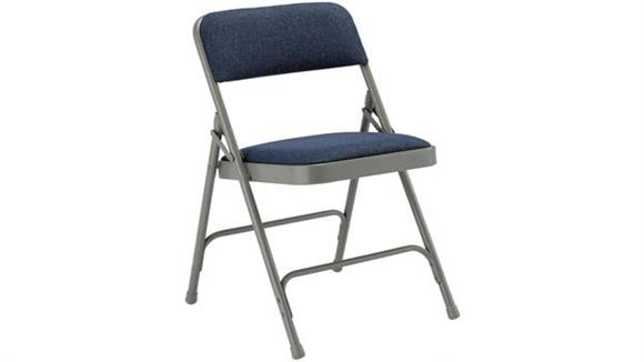 Folding Chairs KFI Seating Steel Folding Chair with Fabric Seat and Back