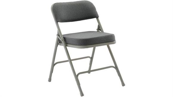 "Folding Chairs KFI Seating Steel Folding Chair with 2"" Fabric Seat and Back"