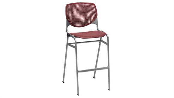 Stacking Chairs KFI Seating Poly Stack Chair with Perforated Back