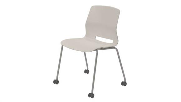 Stacking Chairs KFI Seating Armless Stack Chair with Casters