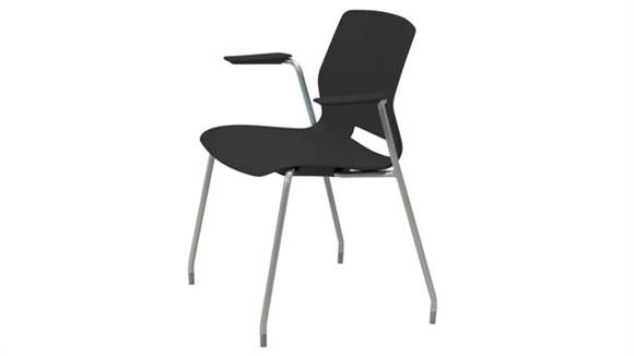 Stacking Chairs KFI Seating 4-Leg Office Stack Chair with Arms