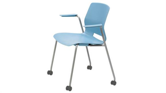 Stacking Chairs KFI Seating Stacking Arm Chair with Casters