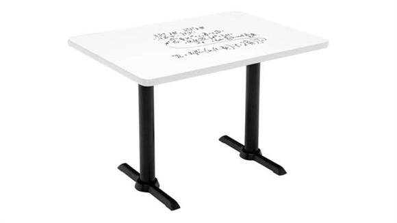 "Activity Tables KFI Seating 30""W x 48""D Pedestal Table with Whiteboard Top & 29""H T-Leg Base"