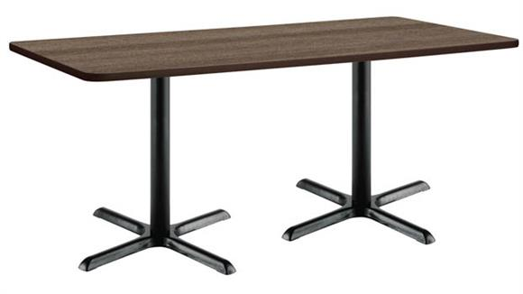 "Cafeteria Tables KFI Seating 30"" x 72"" Breakroom Table, Counter Height, X-Base"
