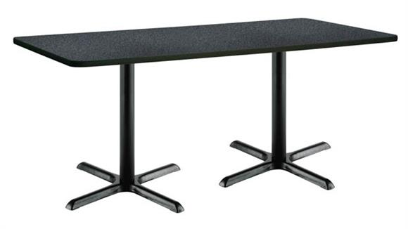 "Cafeteria Tables KFI Seating 30"" x 72"" Pedestal Table"
