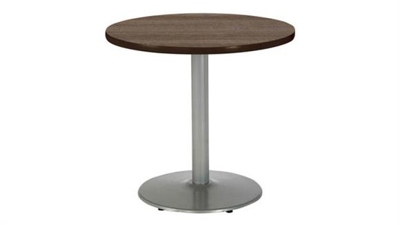 "Cafeteria Tables KFI Seating 30"" Round Breakroom Table, Counter Height, Round Base"