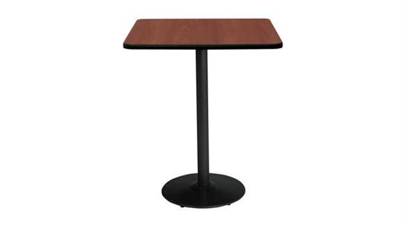 """Cafeteria Tables KFI Seating 30"""" Square Table, Bistro Height"""