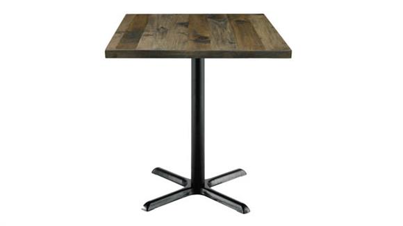 """Cafeteria Tables KFI Seating 36""""H x 30"""" Square Vintage Wood Counter Table"""