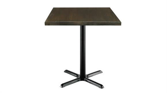 """Cafeteria Tables KFI Seating 30"""" Square Vintage Wood Counter Table"""