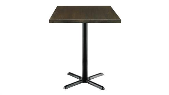 """Cafeteria Tables KFI Seating 30"""" Square Vintage Wood Bistro Table"""