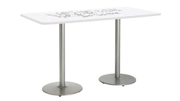 "Activity Tables KFI Seating 36""W x 72""D Rectangle Pedestal Table with Whiteboard Top & 41""H Round Base"