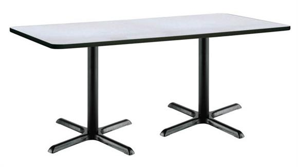 "Cafeteria Tables KFI Seating 36"" x 72"" Pedestal Table"