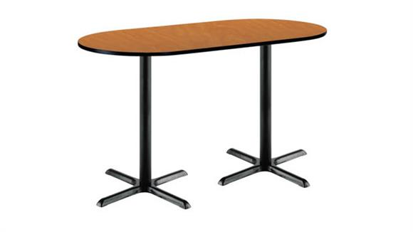 "Conference Tables KFI Seating 42""H x 36""W x 72""D Racetrack Pedestal Table"