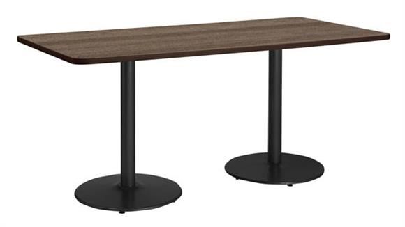 "Conference Tables KFI Seating 36"" x 96"" Conference Table, Counter Height, Round Base"