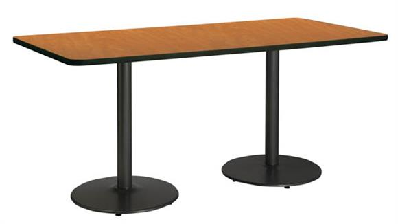 "Conference Tables KFI Seating 36""H x 36""W x 96""D Conference Table, Round Base"