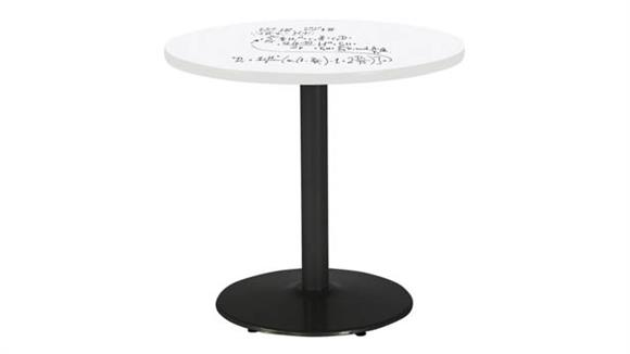 "Activity Tables KFI Seating 36"" Round Pedestal Table with Whiteboard Top & 29""H Round Base"