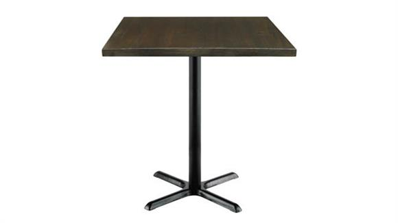 """Cafeteria Tables KFI Seating 36"""" Square Vintage Wood Bistro Table"""