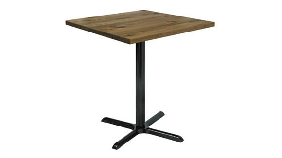 "Cafeteria Tables KFI Seating 36"" Square Vintage Wood Bistro Table"