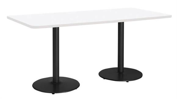 """Conference Tables KFI Seating 42"""" x 96"""" Conference Table, Counter Height, Round Base"""