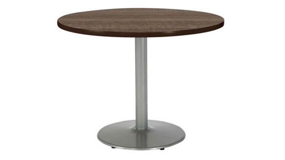 "Cafeteria Tables KFI Seating 42"" Round Breakroom Table, Counter Height, Round Base"