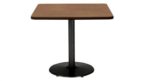 """Cafeteria Tables KFI Seating 42"""" Square Breakroom Table, Counter Height, Round Base"""